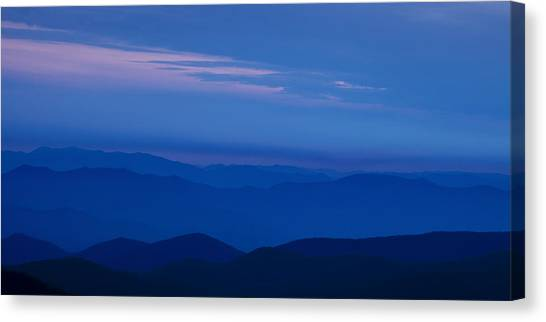 Blue Sky Canvas Print - Blue Ridge Panorama by Andrew Soundarajan