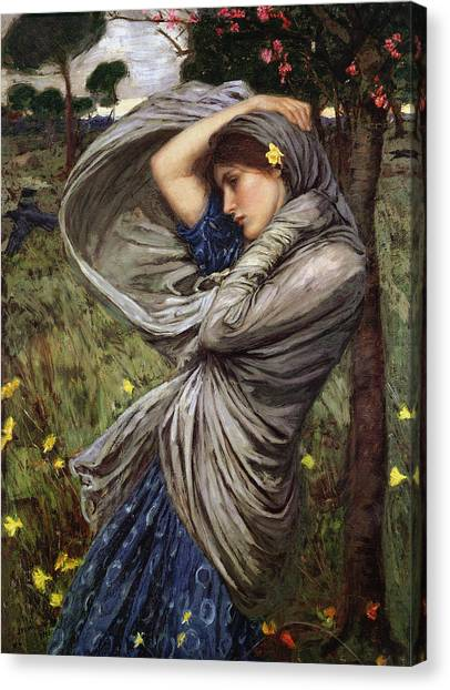 Boreas Canvas Print by  John William Waterhouse