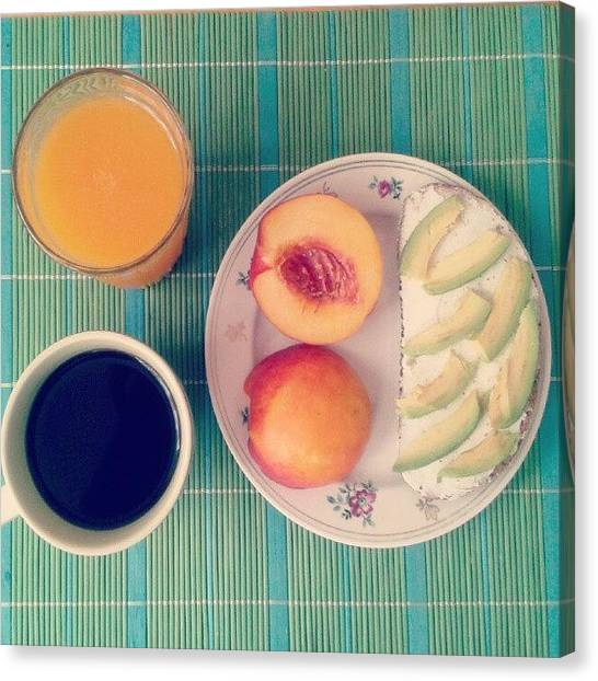 Juice Canvas Print - #breakfast by Irina Bubnova