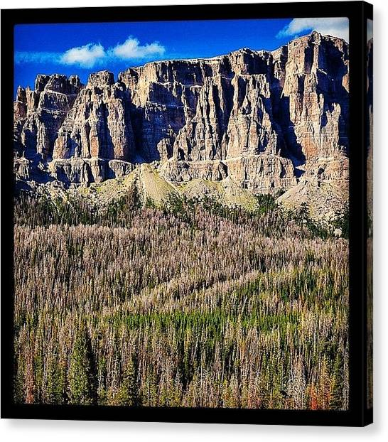 Tetons Canvas Print - Breccia Cliffs, Just Outside The by Chris Bechard