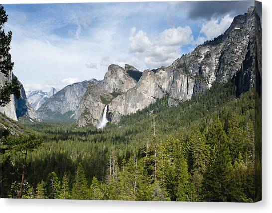 Bridal Veil Falls From Tunnel View Canvas Print