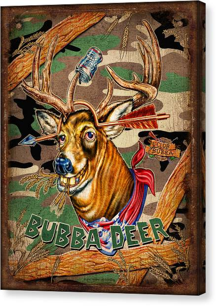Camouflage Canvas Print - Bubba Deer by JQ Licensing
