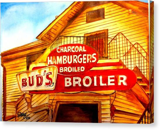 Bud's Broiler Canvas Print by Terry J Marks Sr