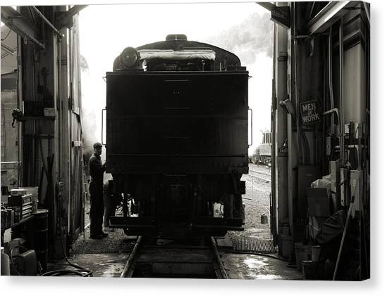 Building Up Steam Canvas Print