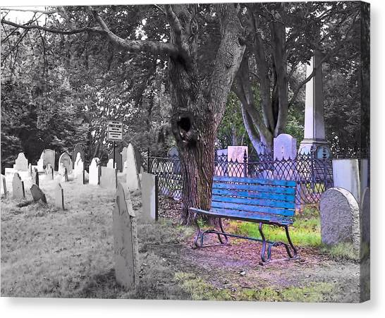 Burial Hill  Canvas Print by Janice Drew