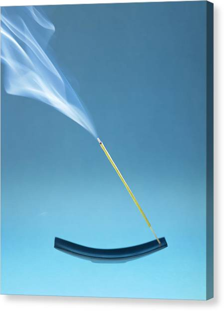 Burning Incense Canvas Print by Lawrence Lawry