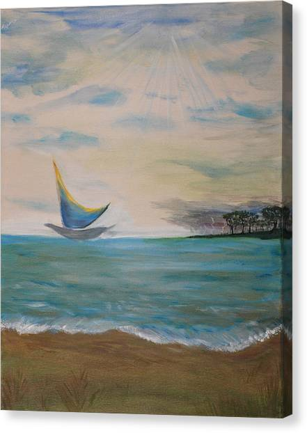 Butterfly Sails Canvas Print by Tifanee  Petaja