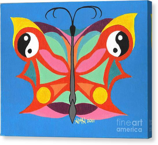Butterfly Twin2 Canvas Print by Angela Q