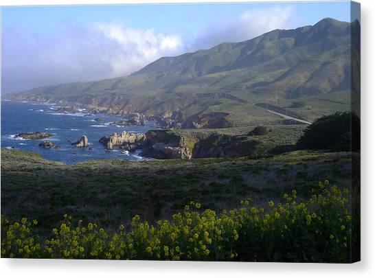 California Coast Canvas Print by Cyndi Combs