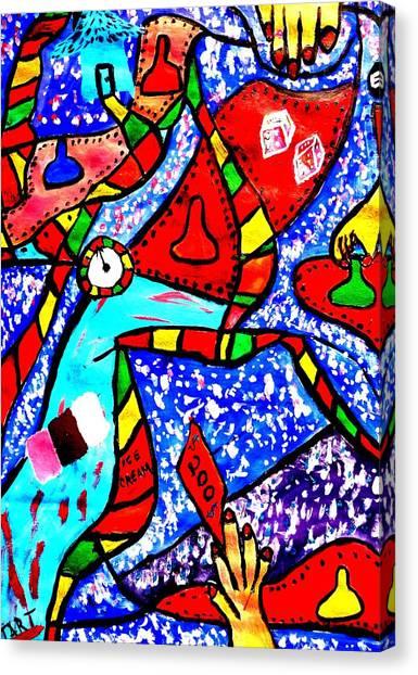 Candyland Canvas Print by Eliezer Sobel