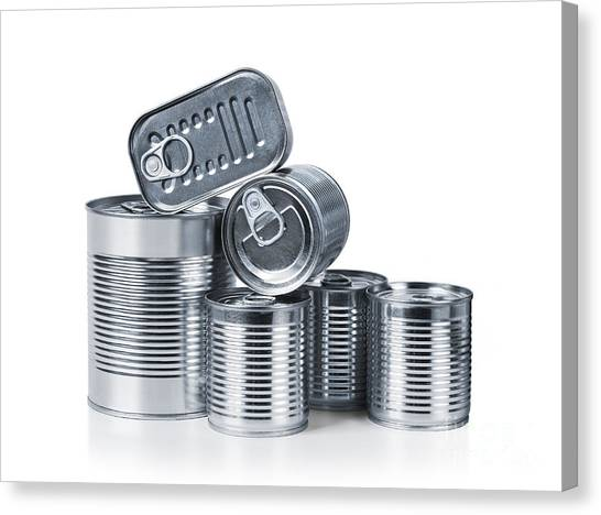 Packaging Canvas Print - Canned Food by Carlos Caetano