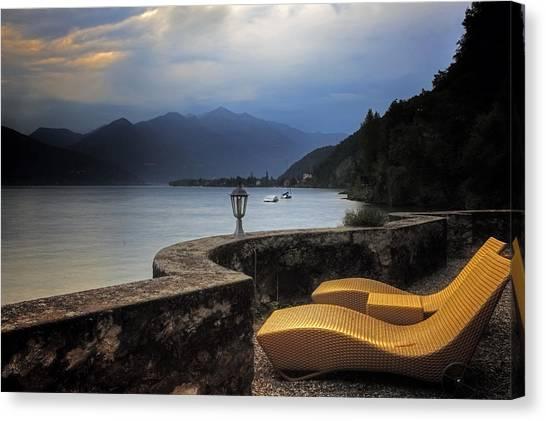 Vintage Polaroid Canvas Print - Canvas Chairs by Joana Kruse