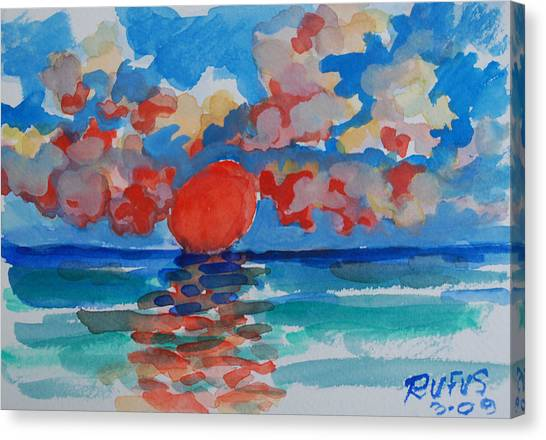 Canvas Print - Caribe Sunset by Rufus Norman