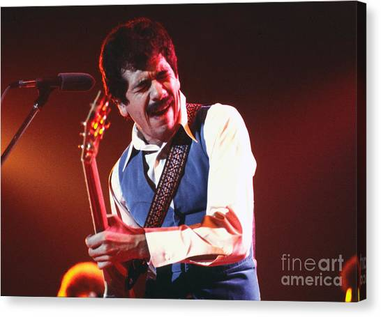 Chris Walter Canvas Print - Carlos Santana by Chris Walter