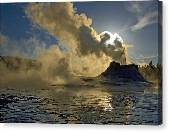Castle Geyser  Canvas Print