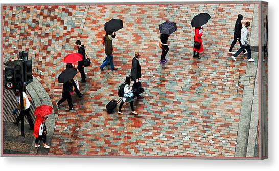 Caught In The Rain Canvas Print by Barry Hayton