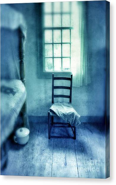Chamber Pot Canvas Print - Chair Under Window by Jill Battaglia