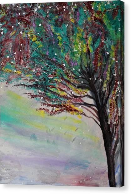 Change Of Falls' Sparkle Canvas Print by Tifanee  Petaja
