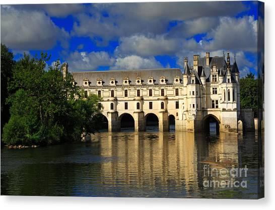 Chenonceau Castle Canvas Print - Chateau Chenonceau by Louise Heusinkveld