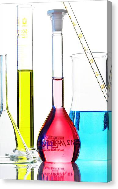 Chemistry Glass-ware Canvas Print by Gombert, Sigrid