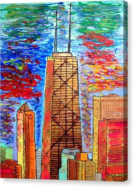 Chicago John Hancock Building Canvas Print by Char Swift