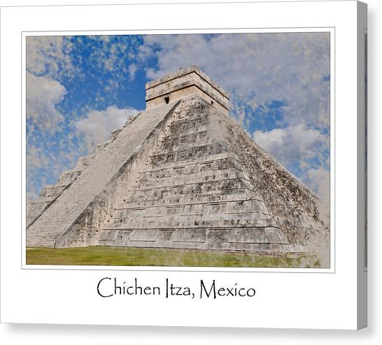 Chichen Itza Modern Seven Wonders Of The World In Mexico Canvas Print