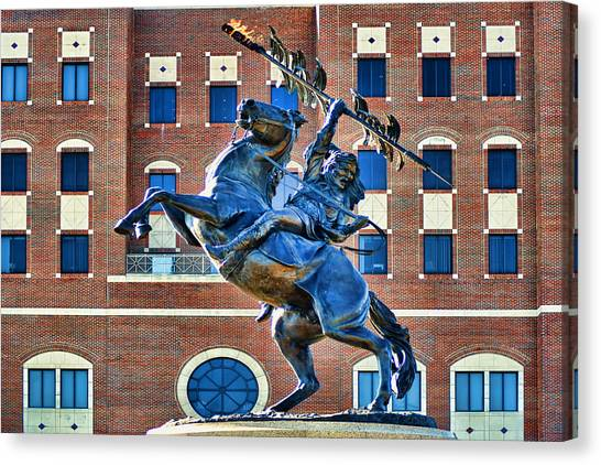 Florida State Fsu Canvas Print - Chief Osceola And Renegade Unconquered by Frank Feliciano