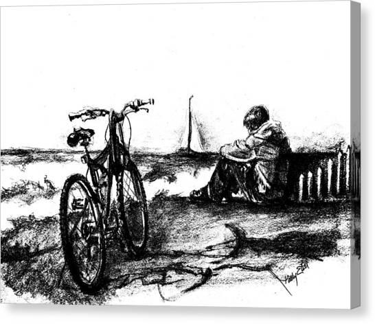 Chillin Canvas Print by Kathy Etoll-Throckmorton