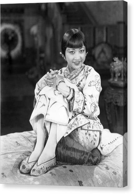 Chinatown Charlie, Anna May Wong, 1928 Canvas Print by Everett