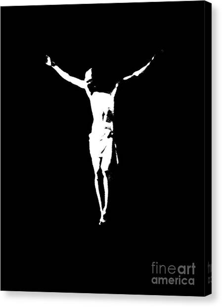 Christ In Black And White  Canvas Print
