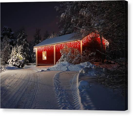 Christmas House  Canvas Print by Roman Rodionov