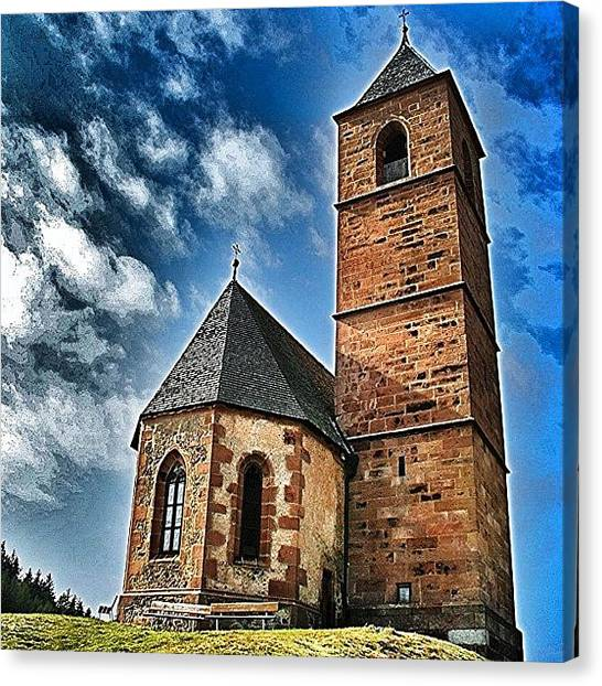 Cool Canvas Print - Church by Luisa Azzolini