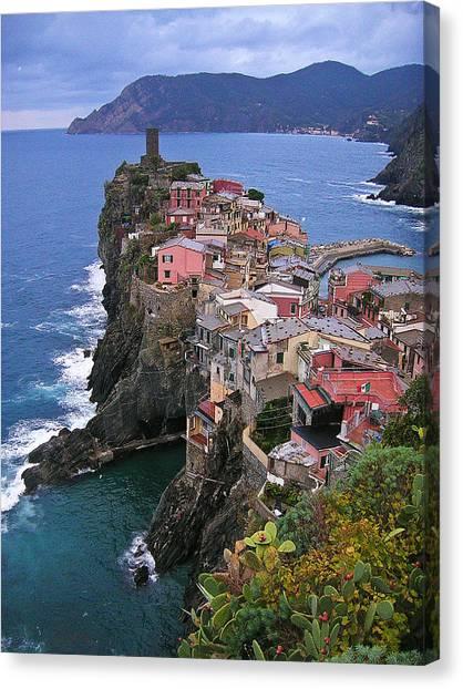 Cinque Terre Italy Fine Art Print Canvas Print by Ian Stevenson