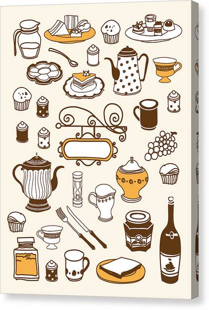 Close-up Of Food Stuff Canvas Print by Eastnine Inc.