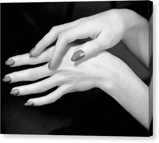 Close-up Of Woman's Hands Canvas Print by George Marks