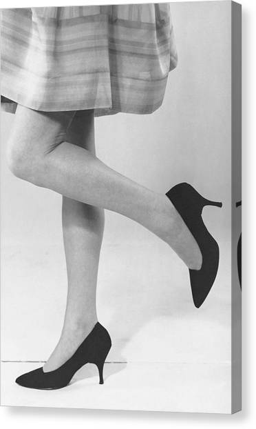 Close-up Of Woman's Legs Canvas Print by George Marks