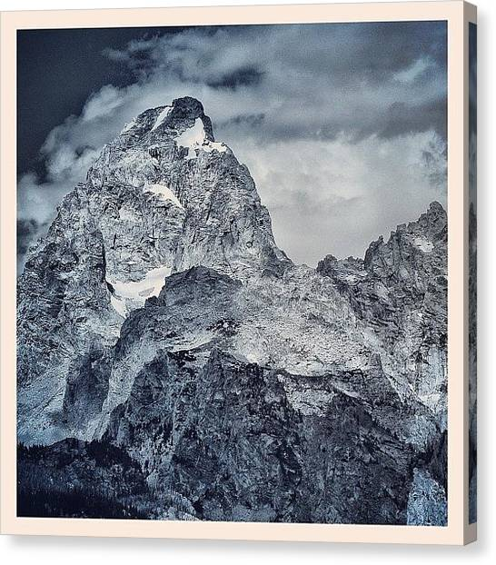 Tetons Canvas Print - Close Your Eyes And Listen To The by Chris Bechard