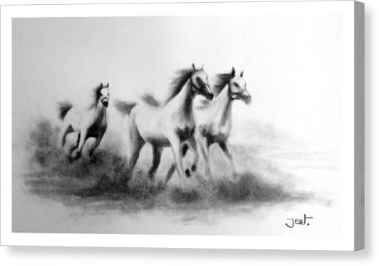 Cloudrunners Canvas Print by Arijeet Chanda