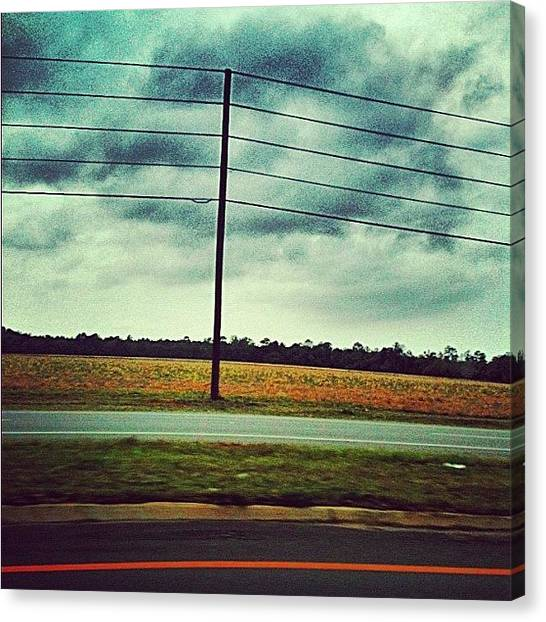 Driving Canvas Print - #clouds #cloudporn #sky #skylovers by Seth Stringer