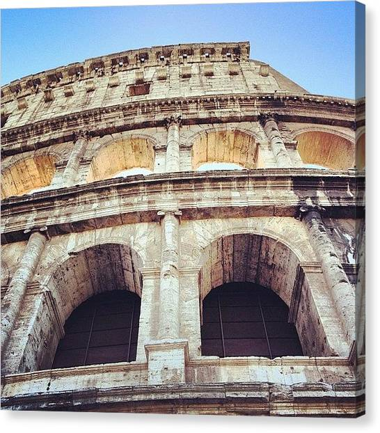 Rome Canvas Print - Colosseum Heights  by Jessica Wagner