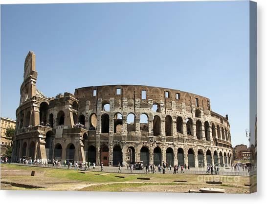 The Amphitheatre Canvas Print - Colosseum. Rome by Bernard Jaubert
