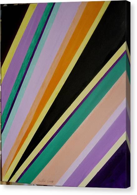 Converging Triangles Canvas Print by Harris Gulko