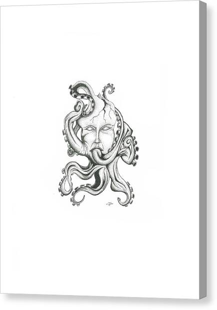 Creepy Curiosity Vi Canvas Print by Jeff Gould