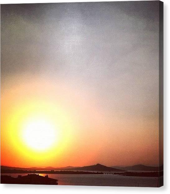 Beach Sunsets Canvas Print - #cunda by Gurkan Oztekin