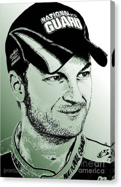 Hendrick Motorsports Canvas Print - Dale Earnhardt Jr In 2009 by J McCombie