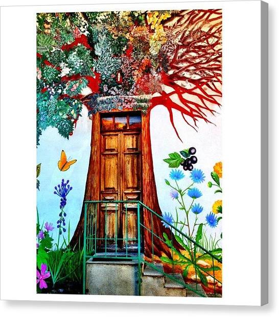 Italy Canvas Print - Damanhur Door by Paul Cutright