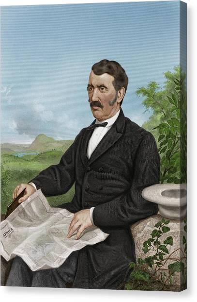 David Livingstone, Scottish Explorer Canvas Print by Maria Platt-evans
