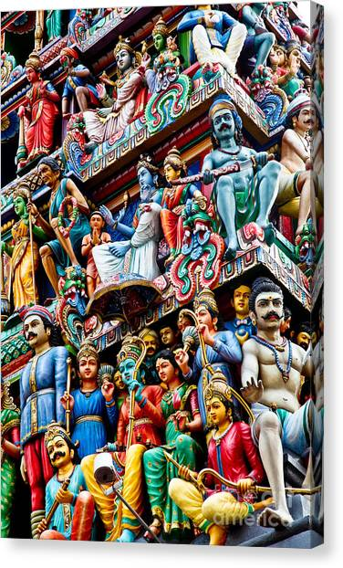 Detail Of Indian Temple Canvas Print