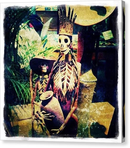 Mexican Canvas Print - Dia De Los Muertes Character by Natasha Marco