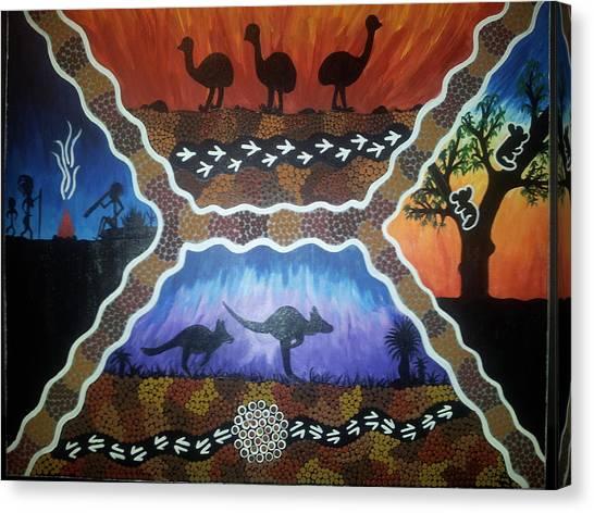 Different Scenes Canvas Print by Karlie Stewart